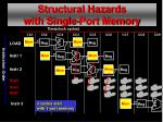 structural hazards with single port memory