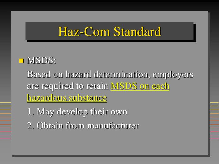 Haz-Com Standard