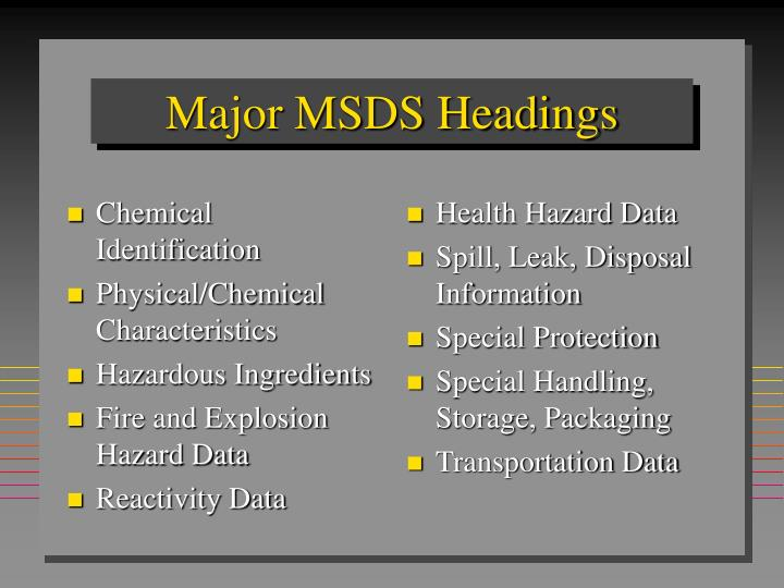 Chemical Identification