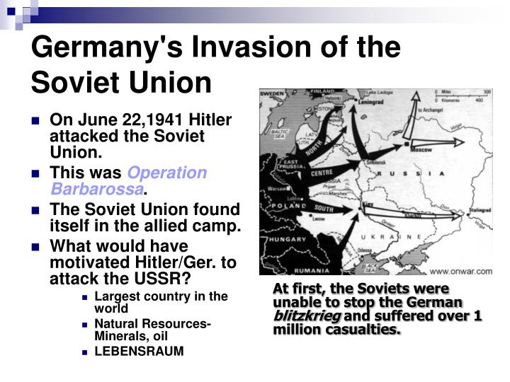 hitlers invasion of the soviet union The last weeks of june offer opportunity for mainstream media (msm) to recall the reich's pre-emptive strike on bolshevik russia their claim is that genial uncle joe stalin was victim of hitler's biggest blunder.