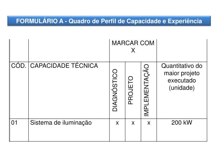 FORMULÁRIO A -