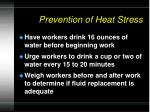 prevention of heat stress1