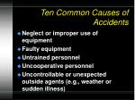 ten common causes of accidents1