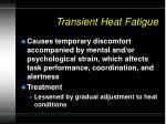 transient heat fatigue