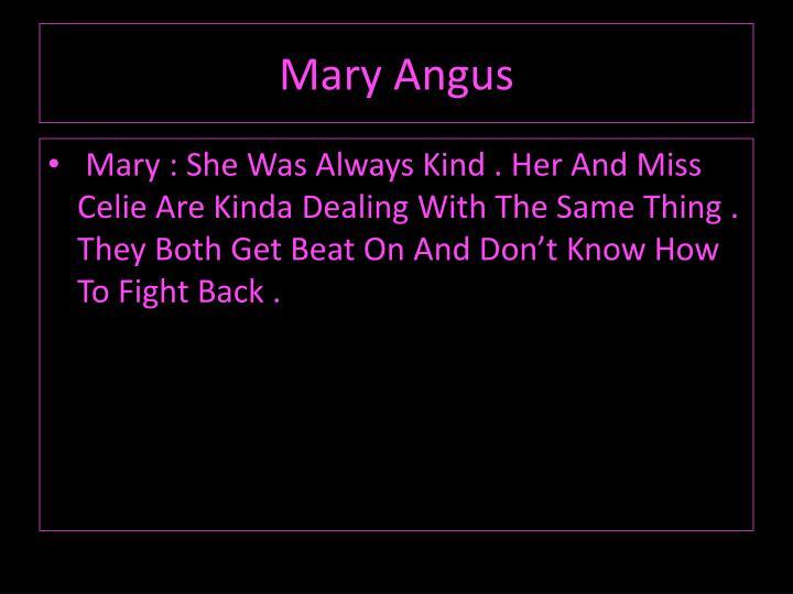 Mary Angus