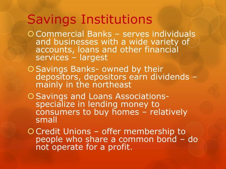 Savings Institutions