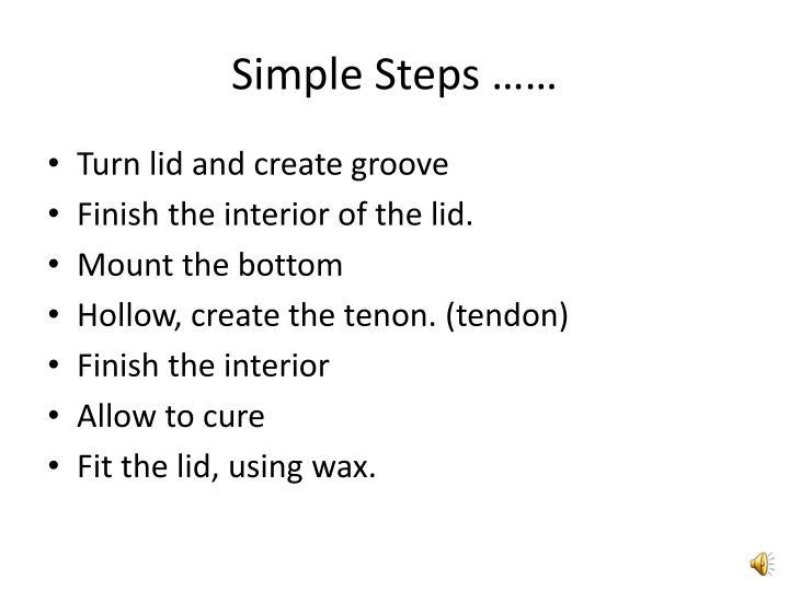 Simple steps1