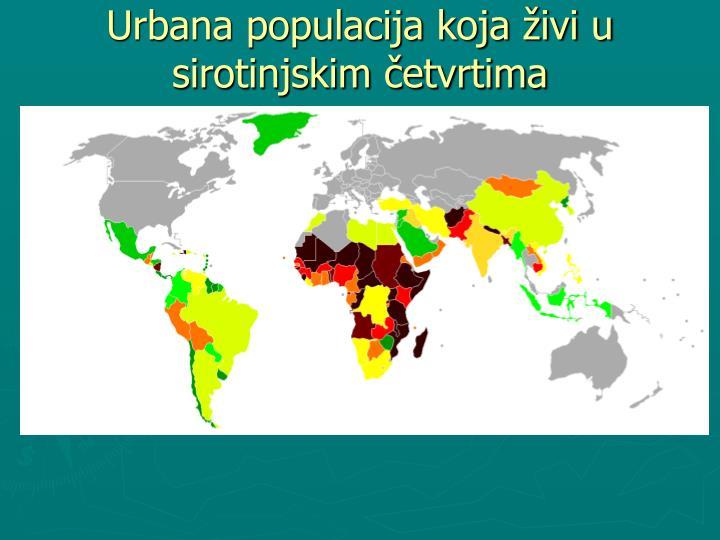 Urbana populacija koja živi u sirotinjskim četvrtima