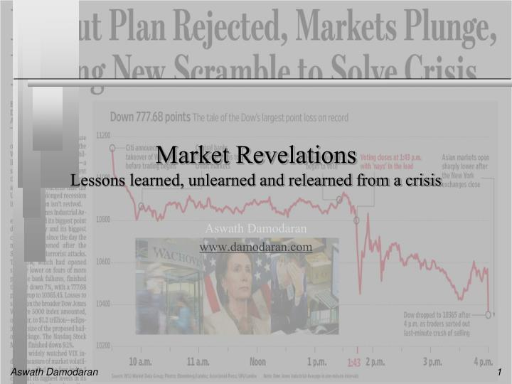 market revelations lessons learned unlearned and relearned from a crisis n.