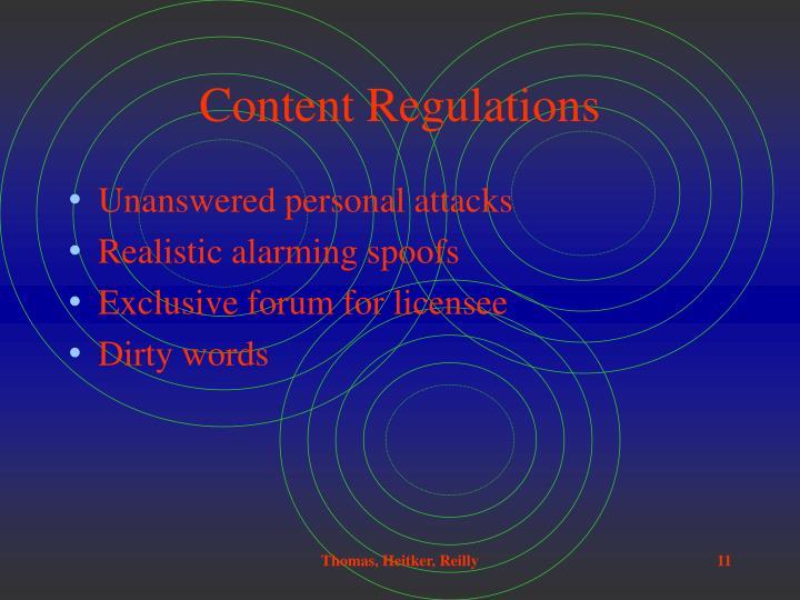 Content Regulations