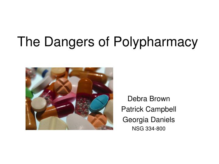 a report on polypharmacy in the elderly