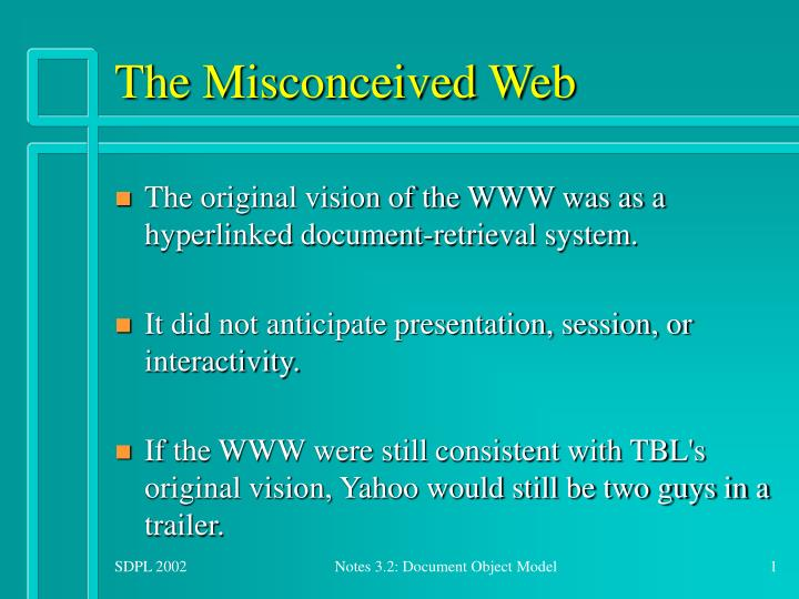 the misconceived web n.