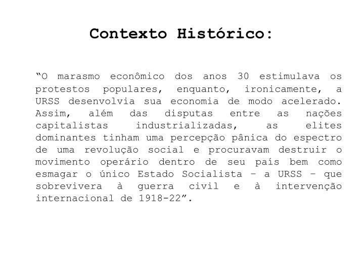 Contexto Histórico: