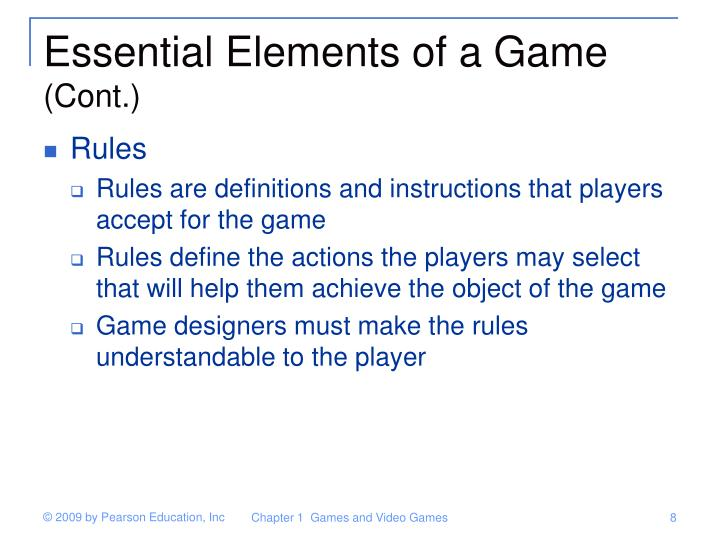 Essential Elements of a Game