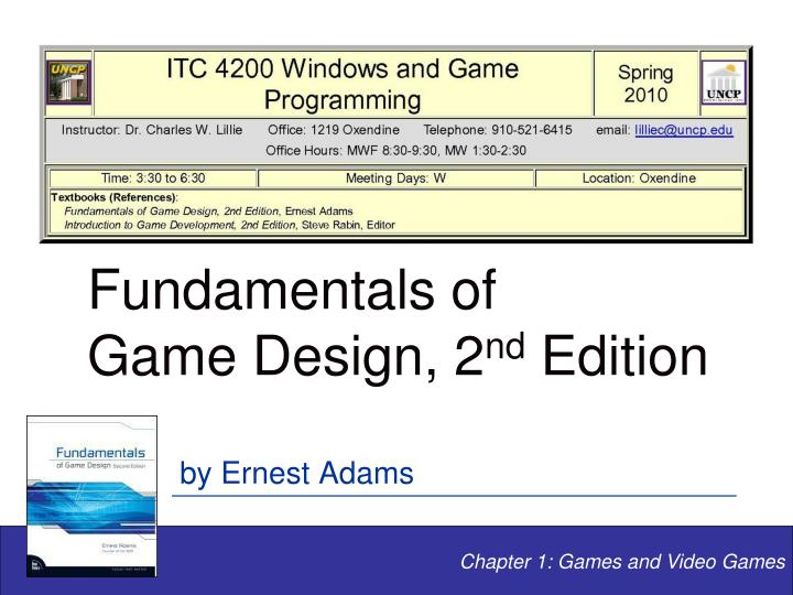 Fundamentals of game design 2 nd edition