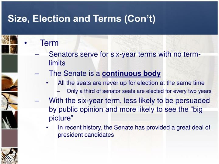 the move to limit the terms of elected and appointed us government officials Which of the following terms describes a government agency that  the complexity of many tasks and the desire by elected officials to limit  us gov- chapter 13.