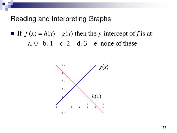 Reading and Interpreting Graphs
