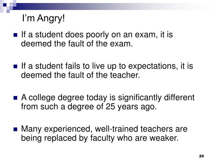 I'm Angry!