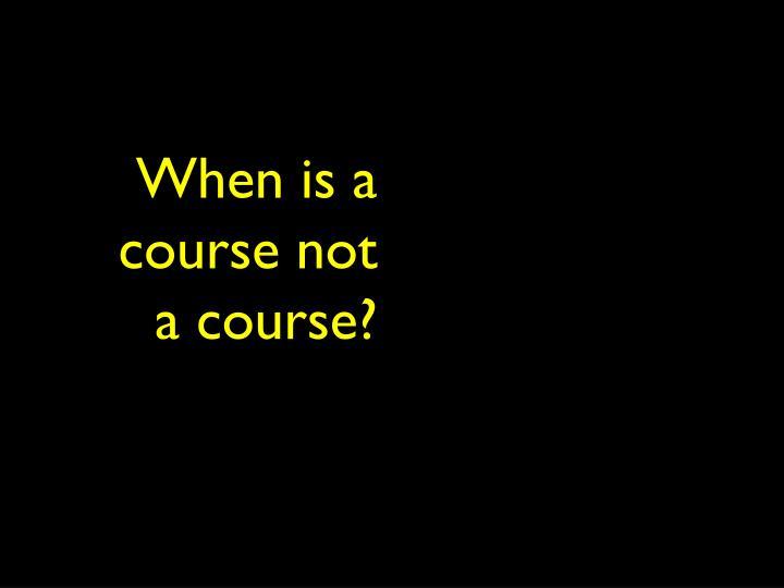 When is a class not a class?