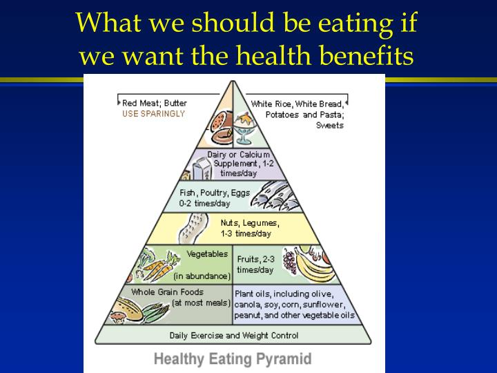 What we should be eating if we want the health benefits
