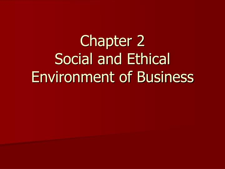 social environment of business