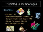 predicted labor shortages