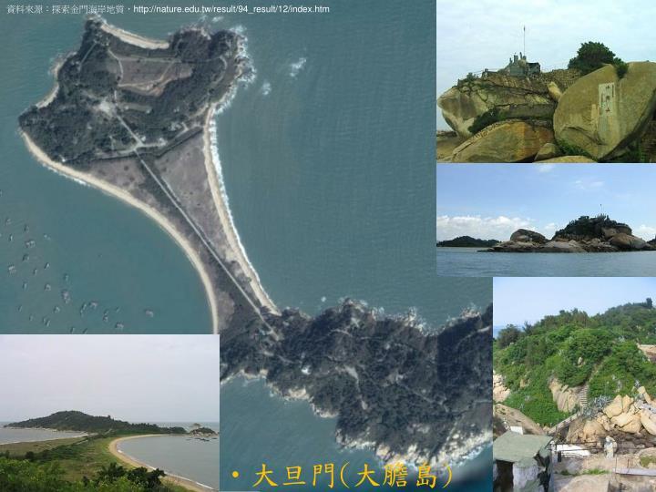 資料來源:探索金門海岸地質,