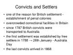 convicts and settlers
