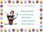 makalah handout