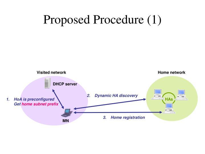 Proposed Procedure (1)