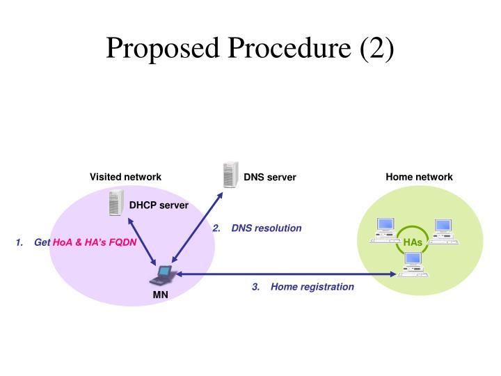 Proposed Procedure (2)