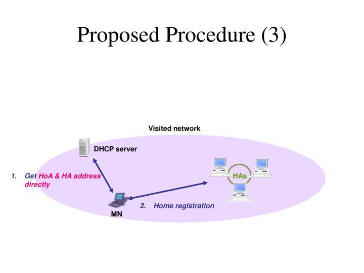 Proposed Procedure (3)
