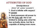 attributes of god20