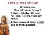 attributes of god23