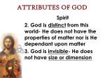 attributes of god27