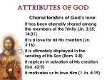 attributes of god40