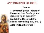 attributes of god44