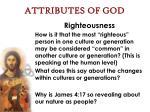 attributes of god61
