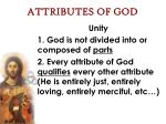 attributes of god66