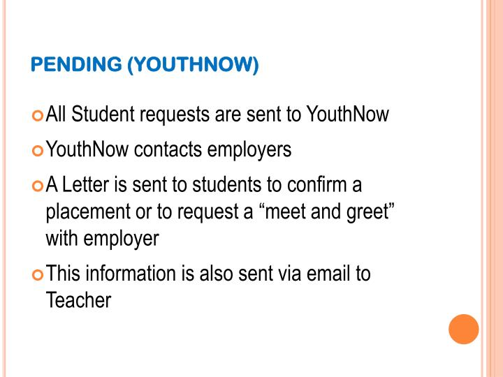 PENDING (YOUTHNOW)