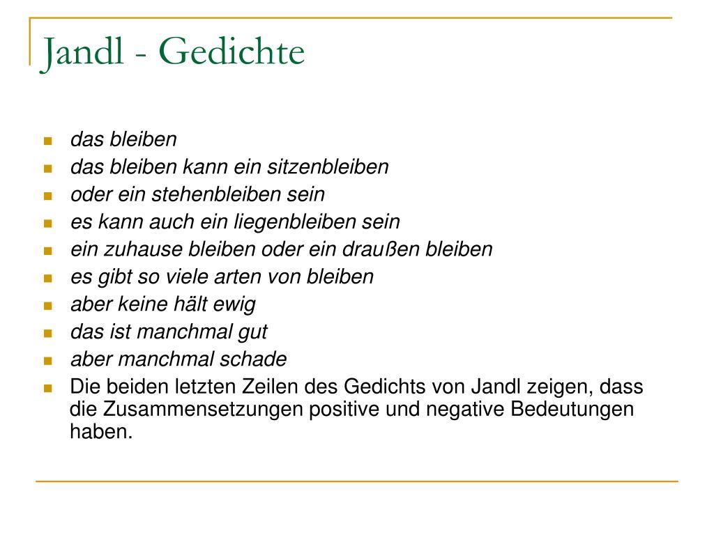 Ppt Ernst Jandl Powerpoint Presentation Free Download