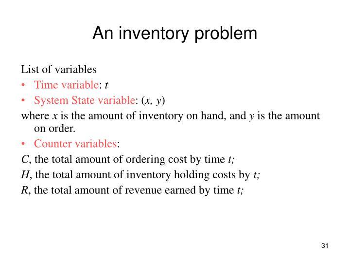 An inventory problem