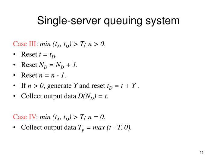 Single-server queuing system