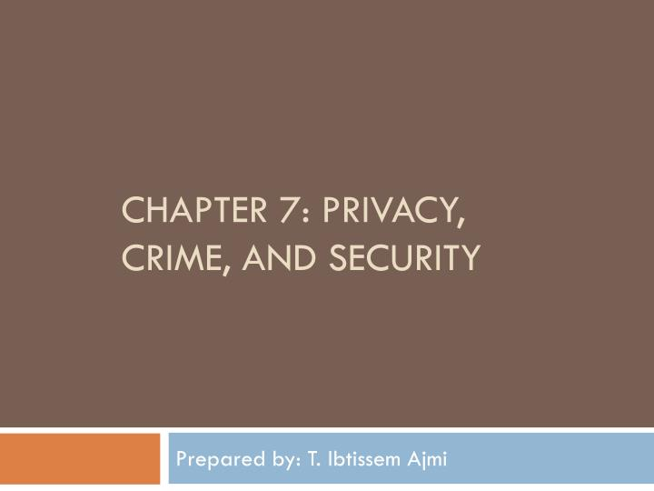 chapter 7 privacy crime and security n.