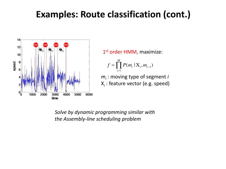 Examples: Route classification (cont.)