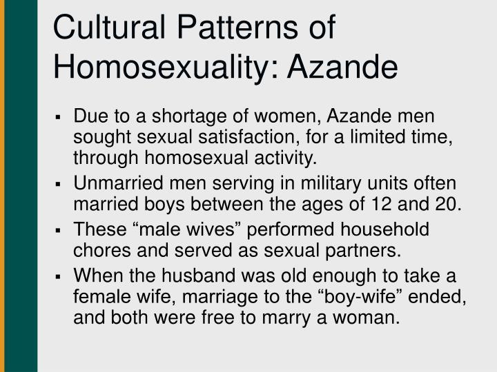 Azande homosexuality