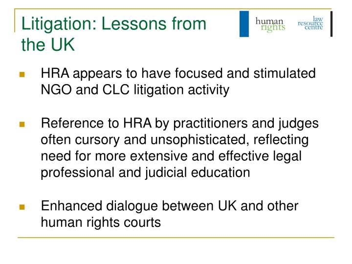 Litigation: Lessons from the UK