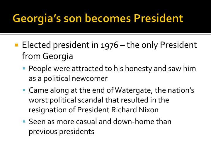 Georgia's son becomes President