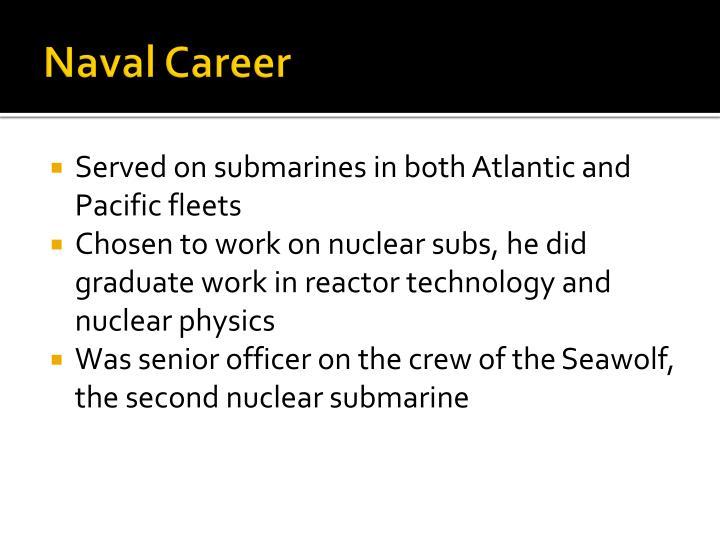 Naval career