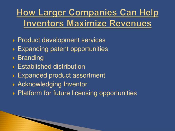 How Larger Companies Can Help